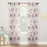 No918 Kiki Floral Crushed Sheer Voile Curtain
