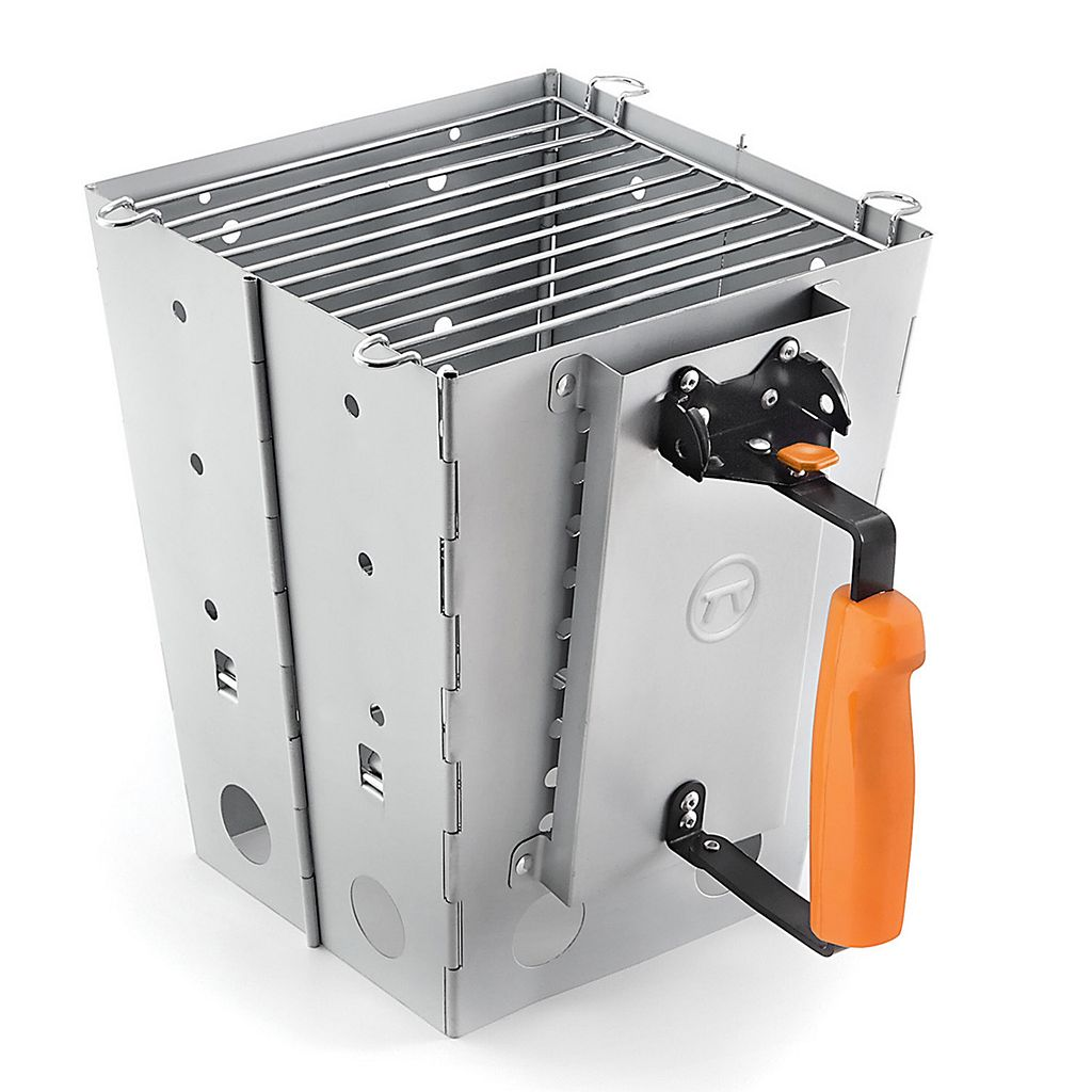 Outset Collapsible Camping Grill & Chimney Starter