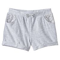 Baby Girl Jumping Beans® Lace Slubbed Shorts