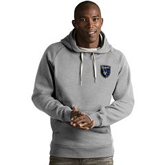 Men's Antigua San Jose Earthquakes Victory Pullover Hoodie
