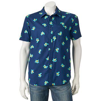 Men's Pokemon Squirtle Button-Down Shirt