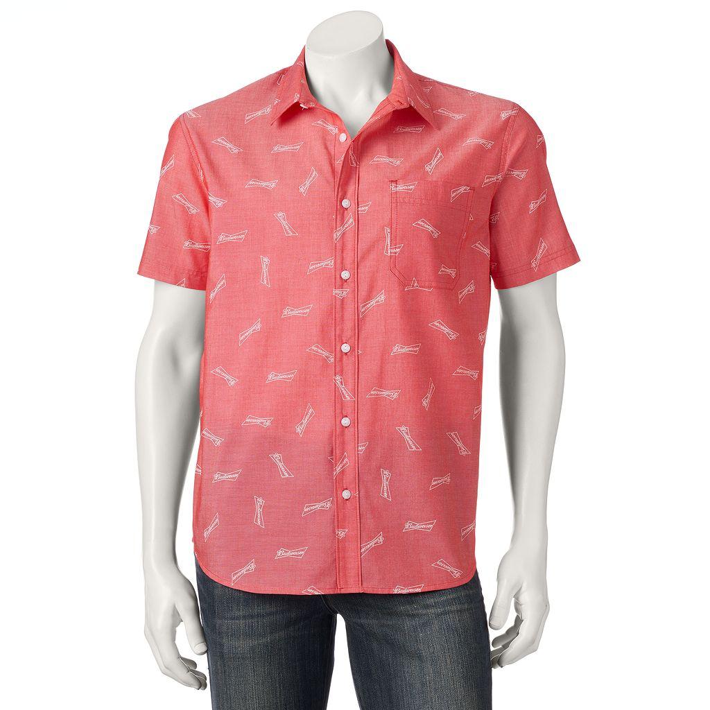Men's Budweiser Button-Down Shirt