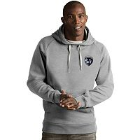 Men's Antigua Sporting Kansas City Victory Pullover Hoodie