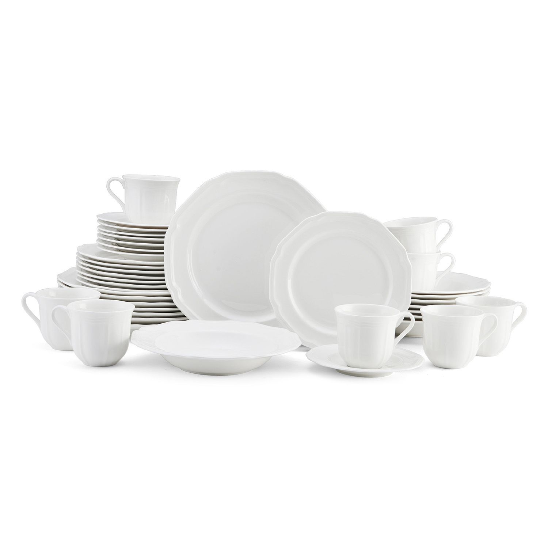 sc 1 st  Kohlu0027s & Mikasa Antique White 40-pc. Dinnerware Set