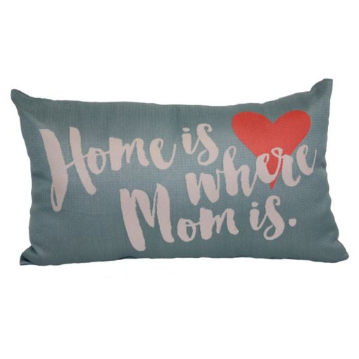 Brentwood ''Home Is Where Mom Is'' Woven Oblong Throw Pillow
