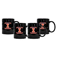Illinois Fighting Illini 4-Pack Coffee Mug Set