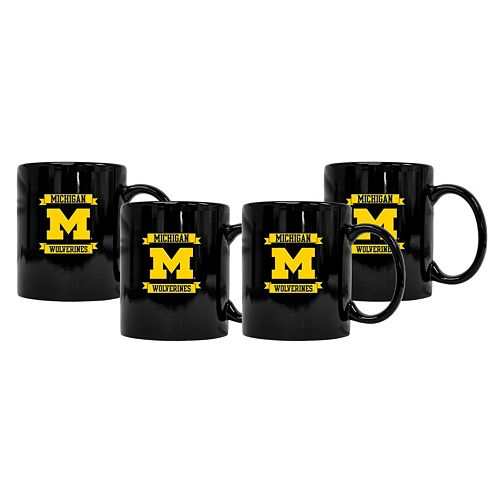 Michigan Wolverines 4-Pack Coffee Mug Set