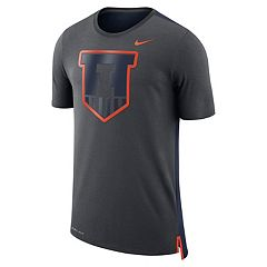 Men's Nike Illinois Fighting Illini Dri-FIT Mesh Back Travel Tee