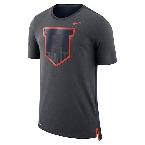 Men's Nike Illinois Fighting Illini Dri-FIT Mesh Back Travel Tee