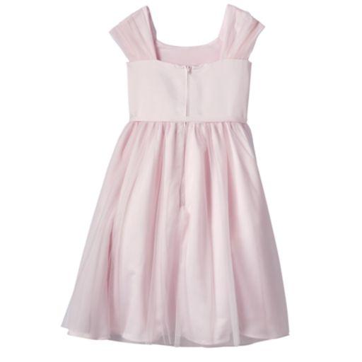 Girls 7-14 Lavender Ballerina Length Pink Special Occasion Dress