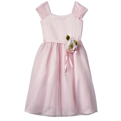 Girls 7-14 Lavender Ballerina Length Pink Special Occasion Dress