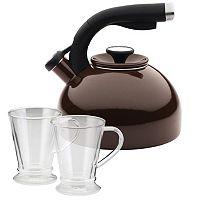 Circulon 3 pc Teakettle & Beverage Mug Set