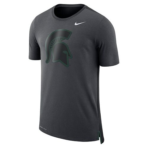 Men's Nike Michigan State Spartans Dri-FIT Mesh Back Travel Tee
