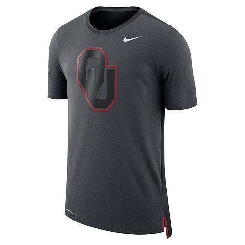 Men's Nike Oklahoma Sooners Dri-FIT Mesh Back Travel Tee
