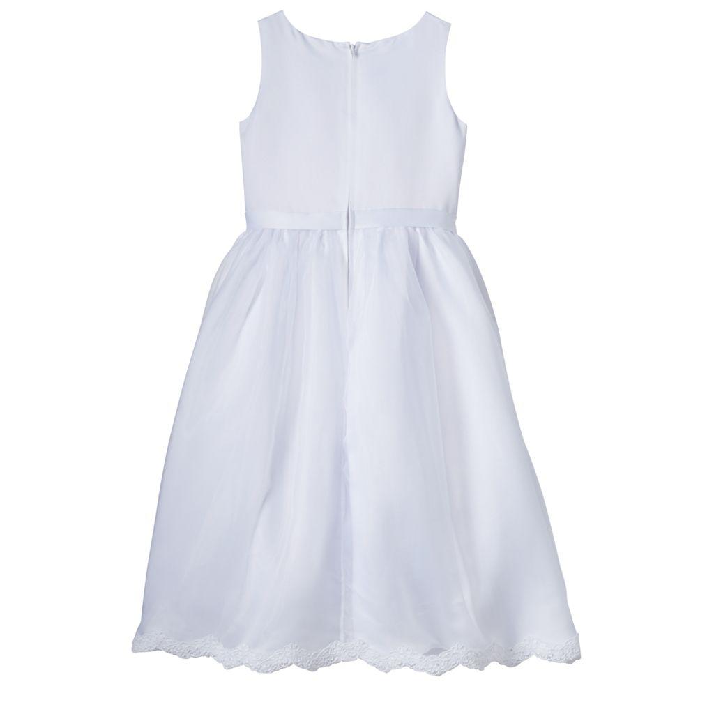 Girls 7-14 Lavender Organza Lace Bodice Tea Length Special Occasion Dress & Bolero Set