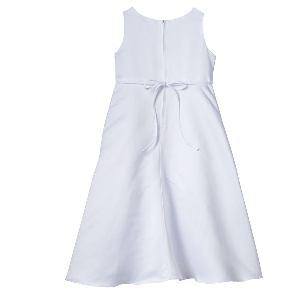 Girls 7-14 Lavender Organza Princess Seam Tea Length Special Occasion Dress & Bolero Set