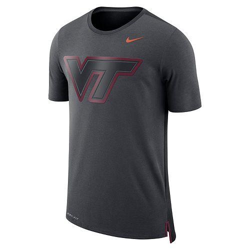 Men's Nike Virginia Tech Hokies Dri-FIT Mesh Back Travel Tee