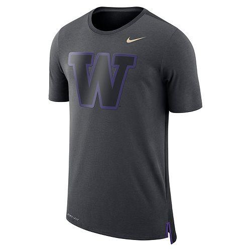 Men's Nike Washington Huskies Dri-FIT Mesh Back Travel Tee