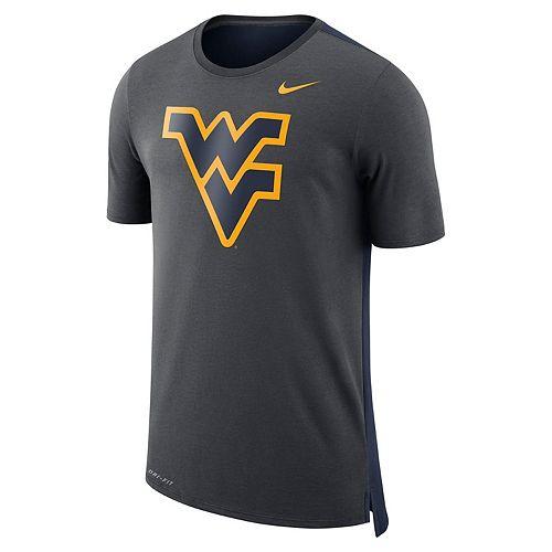Men's Nike West Virginia Mountaineers Dri-FIT Mesh Back Travel Tee