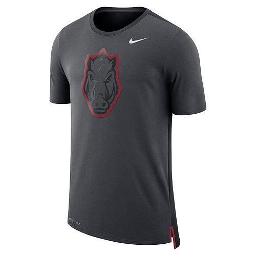 Men's Nike Arkansas Razorbacks Dri-FIT Mesh Back Travel Tee
