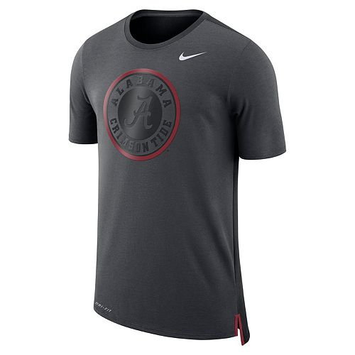 Men's Nike Alabama Crimson Tide Dri-FIT Mesh Back Travel Tee