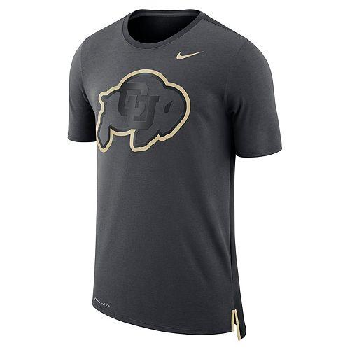 Men's Nike Colorado Buffaloes Dri-FIT Mesh Back Travel Tee
