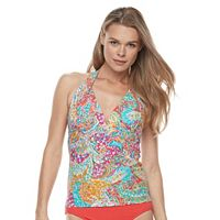 Women's Chaps Paisley Halterkini Top