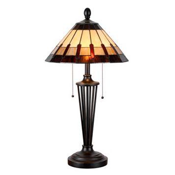 Kenroy Home Harmond Tiffany Table Lamp