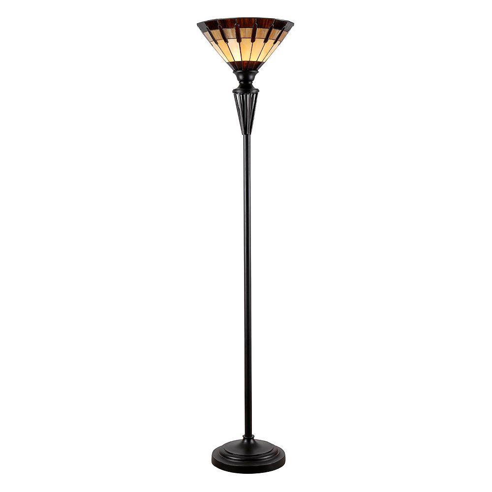 Kenroy Home Harmond Tiffany Torchiere Floor Lamp