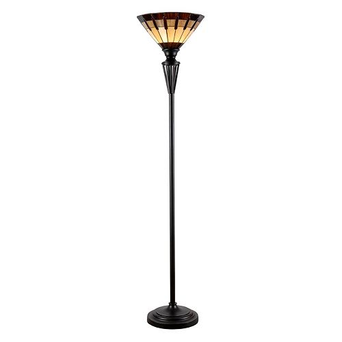 Kenroy Home Harmond Tiffany Torchiere Floor Lamp