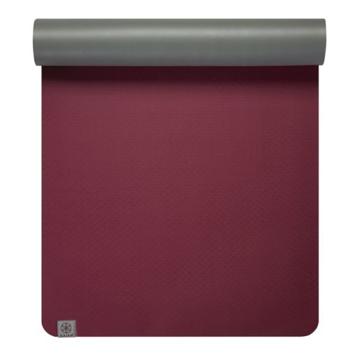 Gaiam 5mm Earth Lovers Cranberry Reversible Yoga Mat