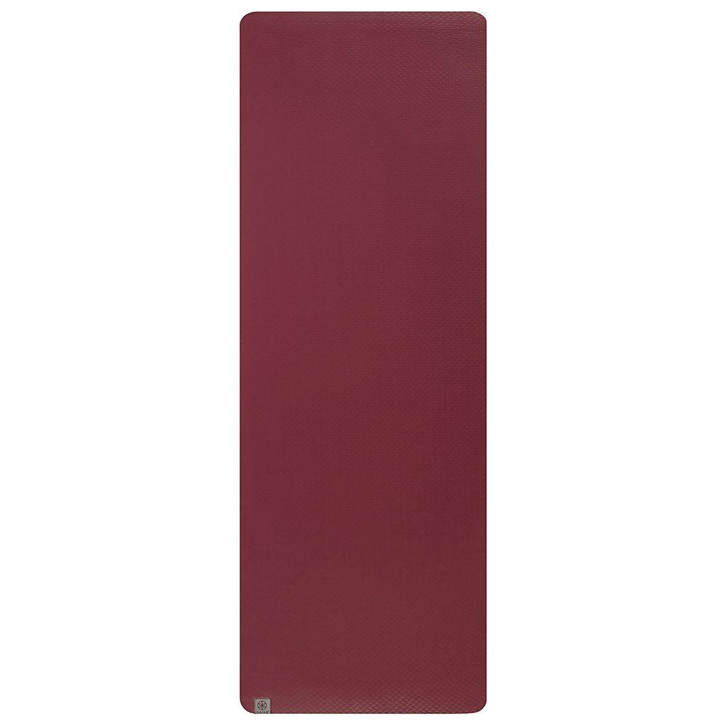 Gaiam 5mm Earth Lovers Cranberry Reversible Yoga Mat