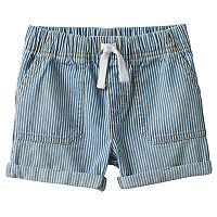 Baby Boy Jumping Beans® Denim Striped Roll Cuff Shorts