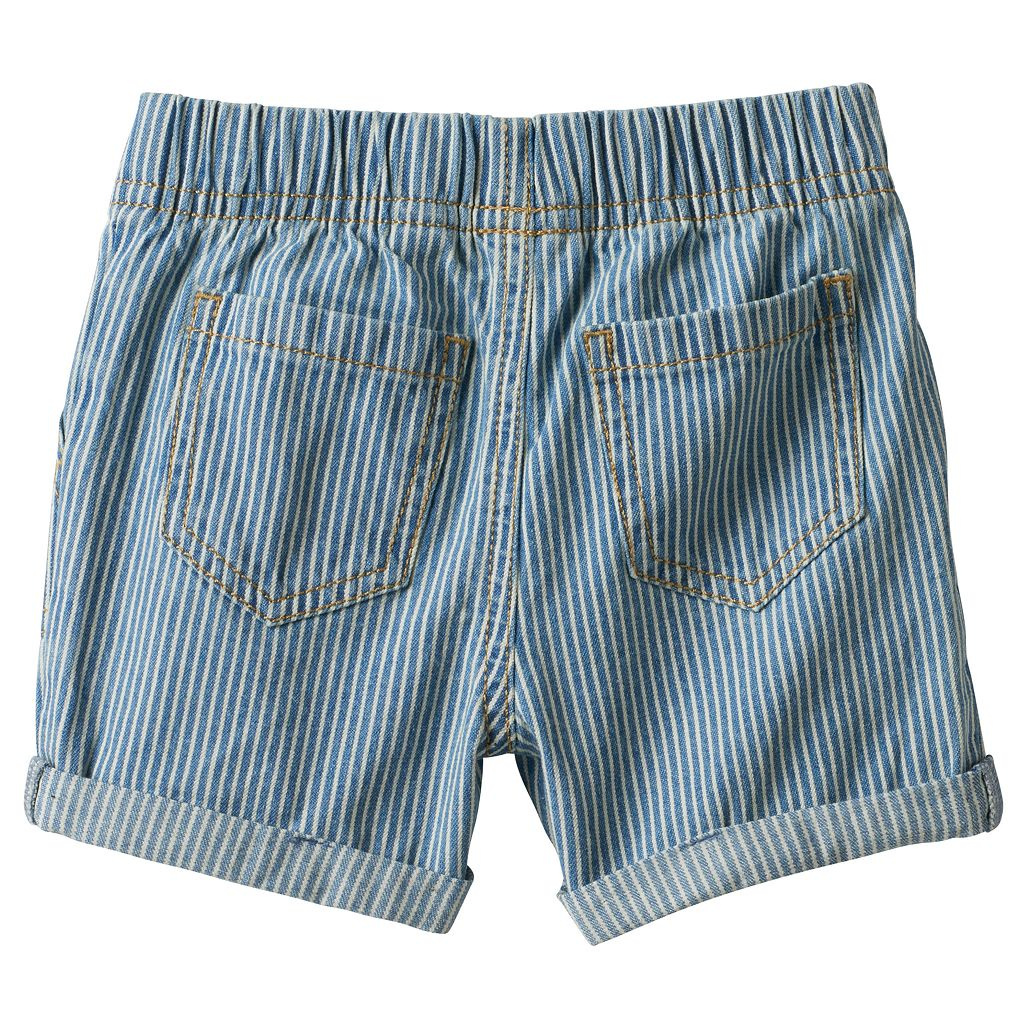 Baby Boy Jumping Beans® Denim Striped Roll Cuff Shorts