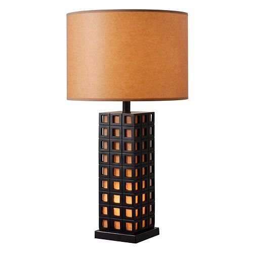 Kenroy Home Nightscape Geometric Table Lamp