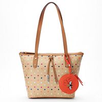 Rosetti AnneMarie Polka Dot Tote with Bee Coin Purse
