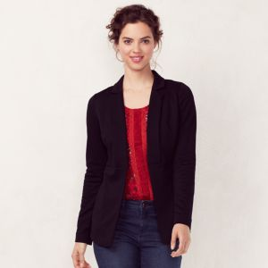 Women's LC Lauren Conrad Seamed Black Blazer