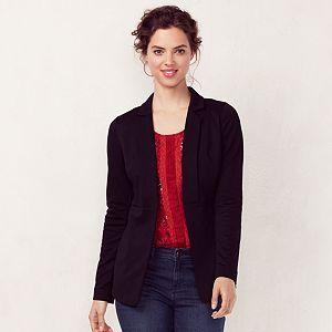 Women's LC Lauren Conrad Seamed Black Blazer