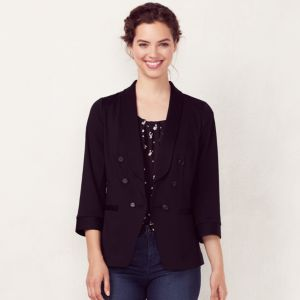 Women's LC Lauren Conrad Solid Double-Breasted Blazer