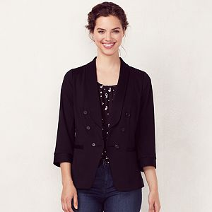 Women's LC Lauren Conrad Solid Double-Breasted Blazer