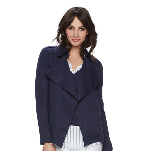 Women's ELLE™ Pleated Draped Blazer