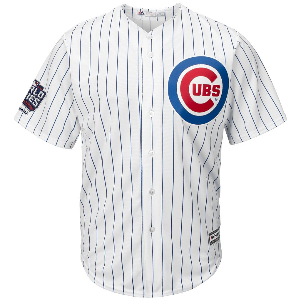 Men's Majestic Chicago Cubs Kyle Schwarber 2016 World Series Champions Cool Base Replica Jersey