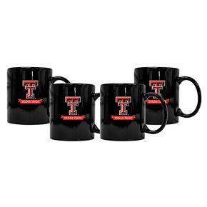 Texas Tech Red Raiders 4-Pack Coffee Mug Set