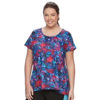 Plus Size Wild Majesty Lattice Back Swing Tee