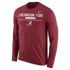 Men's Nike Alabama Crimson Tide Dri-FIT Legend Staff Long-Sleeve Tee