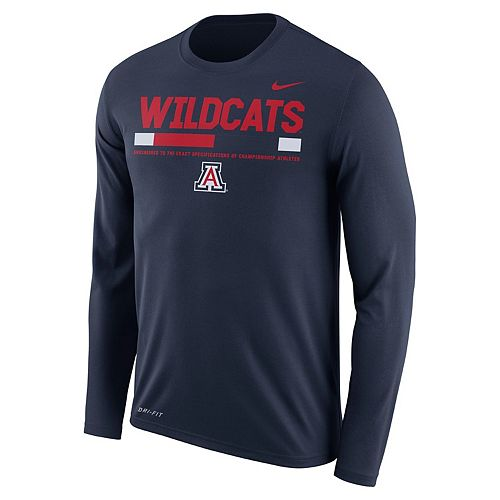 Men's Nike Arizona Wildcats Dri-FIT Legend Staff Long-Sleeve Tee