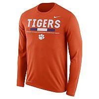 Men's Nike Clemson Tigers Dri-FIT Legend Staff Long-Sleeve Tee