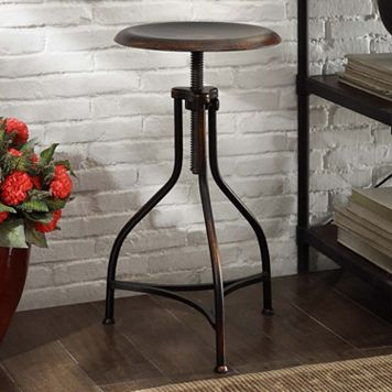 Logan Adjustable Metal Stool