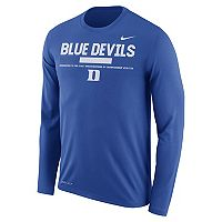 Men's Nike Duke Blue Devils Dri-FIT Legend Staff Long-Sleeve Tee