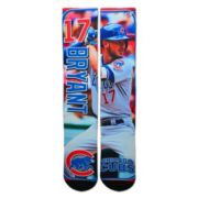 Men's For Bare Feet Chicago Cubs Kris Bryant Trading Card Socks